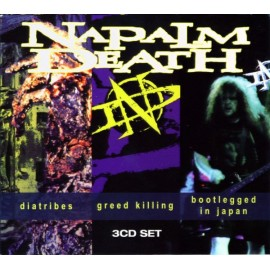 Napalm Death - Diatribes / Greed Killing / Bootlegged In Japan (Box 3 Cd)