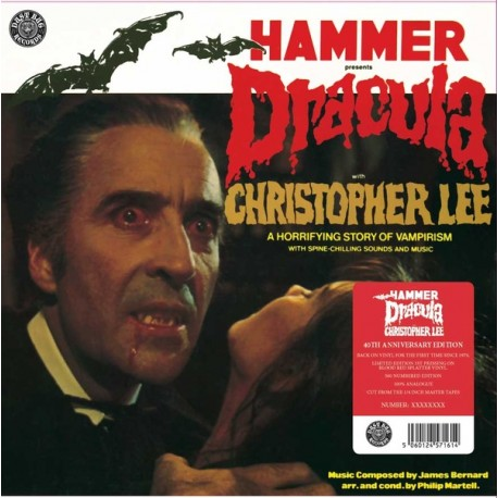 "Hammer Presents Dracula - Vinile Rosso 12"""
